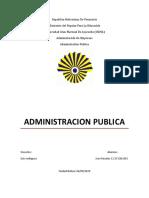 Trabajo Administacion Publica