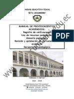 Manual de Procesos 2016-2017