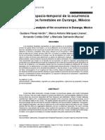 8. Analisis Espacio Temporal de La Ocurrencia de Incendios Forestales en Durango, Mexico