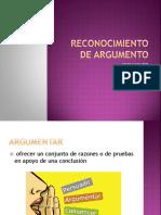 3. Reconocimiento de Argumento