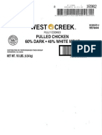 Tip Top Poultry, Inc. Recalled Products Labels.