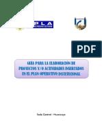 Guía Para La Elaboración de Proyectos Yo Actividades Insertados en El Poi