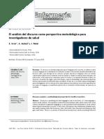 El análisis del discurso como perspectiva metodológica para investigadores de salud