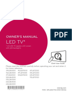 LG LED owner manual