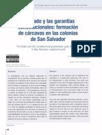 formación de cárcavas en las colonias de San Salvador