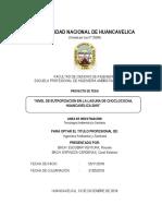 TRABAJO FINAL DEL PROYECTO DE EUTROFIZACION DE LA LAGUNA DE CHOCLOCOCHA