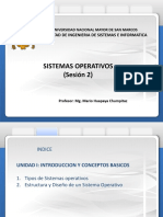 Sistemas Operativos-Introduccion y Conceptos Basicos Sesion 2 27-08-2019 Version 1.0