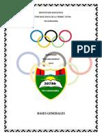 OLIMPIADAS VILCAHUAURINA 2019
