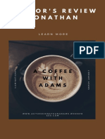 Review A Coffee With Adams Author Jonathan Azael