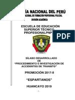 Procedimientos e Investigacion de Accidentes de Transito Promo Espartanos