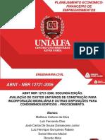 Apresentação Nbr 12721-2006