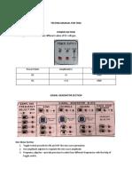Testing Manual for Tdm