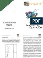 Manual Motocultor