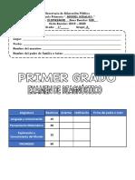 Examen Diagnostico Primer Grado 2019 – 2020