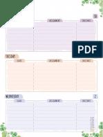 Week Schedule Floral Style