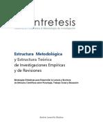 estructura metodologica y estructura teorica