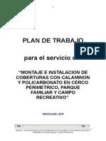 PLAN DE TRABAJO COBERTURAS