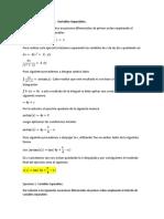 Ejercicios 1 Estudiante B. Variables Separables
