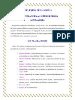 Reflexion Pedagogica Procesafolio