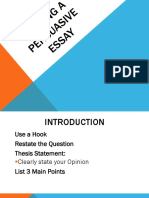 Persuasive Essay PowerPoint Feb 2011