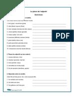 La place de l'adjectif exercices et corrige.pdf