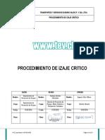 Procedimiento de Izaje Critico (v-01)