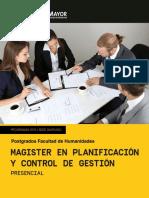 magister en planificacion y control de gestion