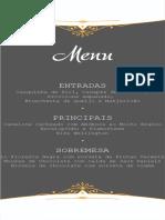OrganizandoMeuCasamento - Cardápio Editável Elegance - Verso
