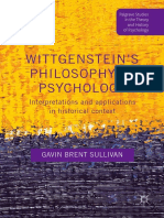 (Palgrave Studies in the Theory and History of Psychology) Gavin Brent Sullivan (Auth.)- Wittgenstein's Philosophy in Psychology_ Interpretations and Applications in Historical Context-Palgrave Macmil