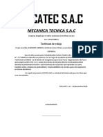 Certificado de La Empresa Mecatec