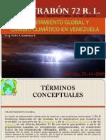 CALENTAMIENTO GLOBAL Y  CAMBIO CLIMÁTICO EN VENEZUELA
