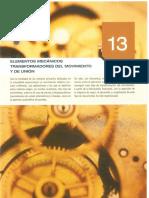 Tema 13 - Elementos Mecanicos Transformadores Del Movimiento y de Union