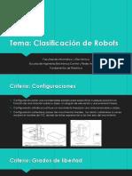 Calsificacion de Robots