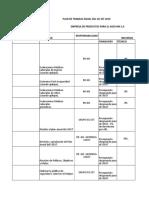 Plan de Trabajo Anual Empresa Productos de Aseo Mk s