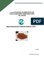 Investigación de mercado chile habanero deshidratado - Japón 2007