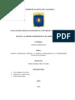 Trabajo Final de Auditoria en la Municipalidad Provincial de Cajamarca