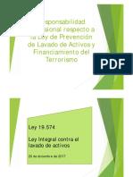 Responsabilidad Profesional respecto al Lavado de Activos y Financiamiento del Terrorismo