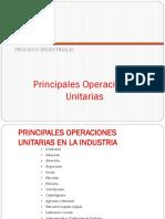 7.1 Principales Operaciones Unitarias