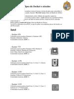 Tipos de Socket Computadores