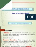 dotación y consumo - instalaciones sanitarias