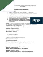 Programa y Plan de Auditoría
