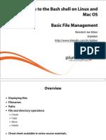 Introduction Bash Shell Linux Mac Os m3 Basicfilemanagement Slides