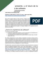 El Pasado, Presente, y El Futuro de La Arquitectura de Software-convertido