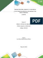 Tarea 5 - Desarrollar Matriz de Analisis de Articulos Cientificos en Temas Agrarios y Ambientales