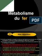 Metabolisme Du Fer