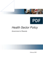 Rwanda National Health Sector Policy 2005