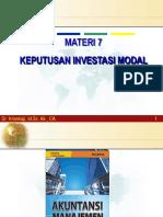 Bab 7 - Keputusan Investasi Modal-09052017.ppt