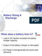 battery Sizing & Discharge