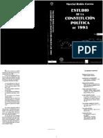 Estudio de La Constitucion Politica de 1993. Tomo I. Marcial Rubio Correa (1999)