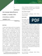 PENNA, Camila. Paulo Freire e Pensamento Decolonial
